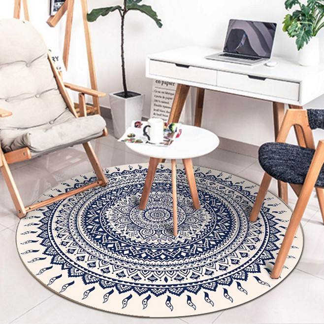 Bohe persan tapis ronds pour salon chambre tapis et tapis style ethnique décor tapis de sol étude Table basse tapis