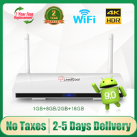 Leadcool TV Box Android9.0 Amlogic S905W Quad-Core Full HD supporto 2.4G Wifi 4K Media Player Smart TV Box leadcool set-top Box