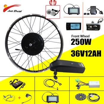 Jueshuai-Kit de conversión de bicicleta eléctrica, rueda de bicicleta eléctrica delantera y...