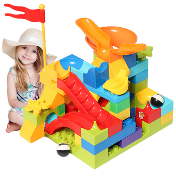 цены Big Size Building Blocks Set Maze Balls Slideway Blocks Construction Figures Compatible Brand Blocks Toys For Children Kids Gift