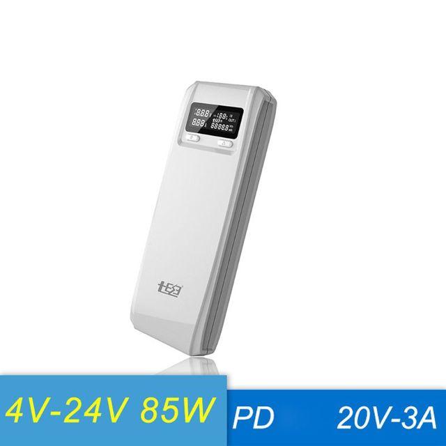 QD188 PD Dual USB QC 3.0 + Loại C PD Đầu Ra DC 8X18650 Pin DIY Power Bank Hộp Đựng ốp Lưng Sạc Nhanh (Không Pin)