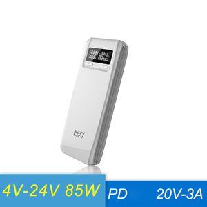 Image 1 - QD188 PD デュアル usb qc 3.0 + タイプ c pd dc 出力 8 × 18650 電池 diy 電源銀行ボックスホルダーケース急速充電器 (バッテリなし)