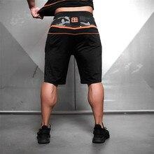 2018 מותג Mens חדש מהנדסים דחיסת חדרי כושר מכנסיים קצרים קיץ ברמודה מכנסיים קצרים כושר גברים פיתוח גוף Mens גוף Casua מכנסיים קצרים