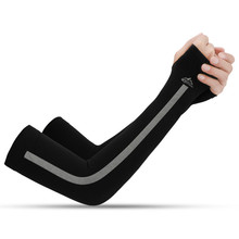 Men Women Ice Silk Sports Sleeve Sun UV Protection Running Cycling Fishing Clambing Driving Arm Sleeves Arm Warmers