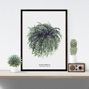 Image 4 - Elegantพืชสีเขียวพิมพ์สไตล์ภาพบ้านโรงแรมตกแต่งของขวัญ (ไม่มีกรอบ)