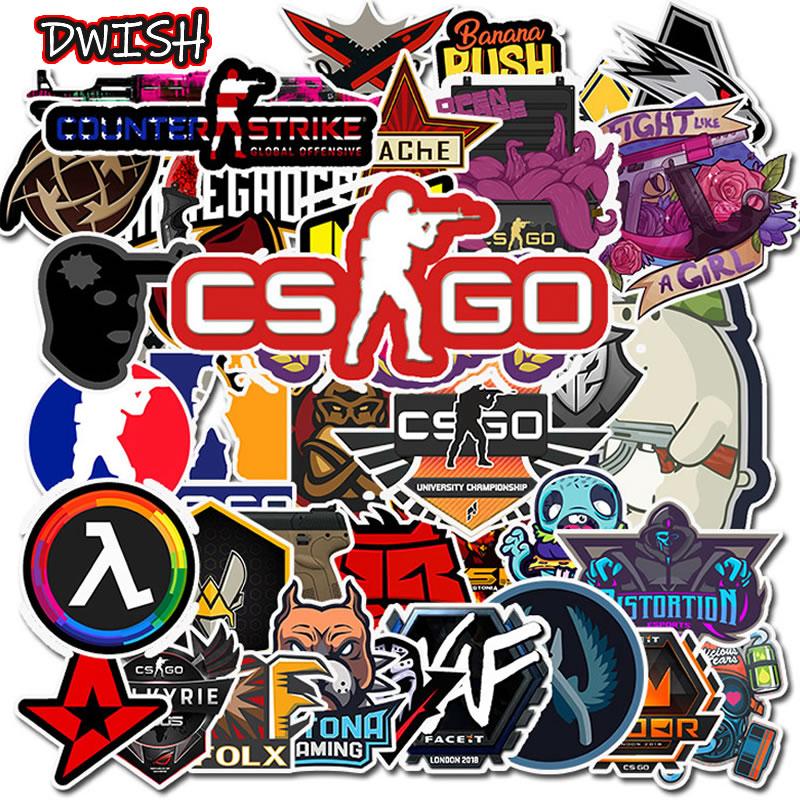 10 30 50PCS CS GO PVC Waterproof Children Stickers Skateboard Guitar Suitcase Motorcycle Funny Graffiti Sticker
