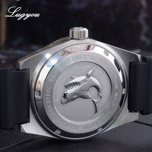 Image 4 - Lugyou San Martin 62Mas Mergulhador Relógio Automático dos homens Mecânicos Safira Aço Inoxidável Rotativa Bisel 20ATM Metal Pulseira SLN