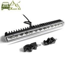 цена на Slim Single Row 36W 13 Inch Led Light Bar 4x4 Offroad For Suv Off road ATV 4WD Trucks Flood Beam Led Barra Work Driving Lights