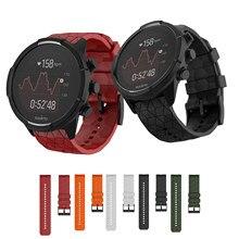 Мягкий силиконовый ремешок для часов SUUNTO 9 Baro ремешок 24 мм ширина замена силиконовый браслет для SUUNTO Spartan/9 Baro медный ремешок