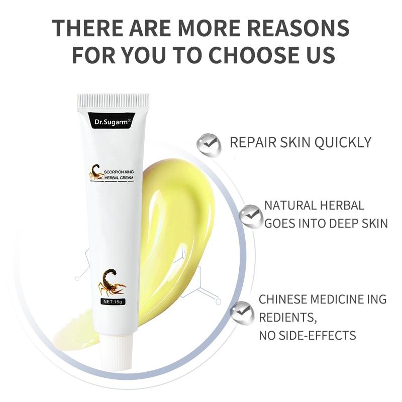Dr.Sugarm Scoprion king Herbal Material Psoriasis Creams Dermatitis Eczema Pruritus Psoriasis Ointment Foot care body Cream 2