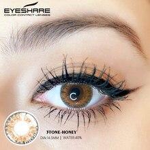 EYESHARE 2 Pièces/paire Mode 3 Tons Miel Couleur Lentilles de Contact Oeil Lentilles Colorées Contacts Équipement De Beauté