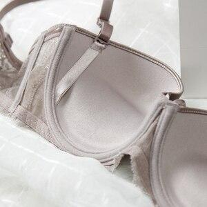 Image 5 - נשים הלבשה תחתונה סטי תחרה פנינת קישוט חזייה ותחתונים אדום חם חזיית סט סקסי חוטיני חלקות קצרים לדחוף את חזייה