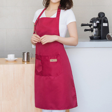 Cotton Denim Canvas Pockets Baking Chefs Kitchen Cooking Apron Onesies Cover Clothing Mom Coat Hot