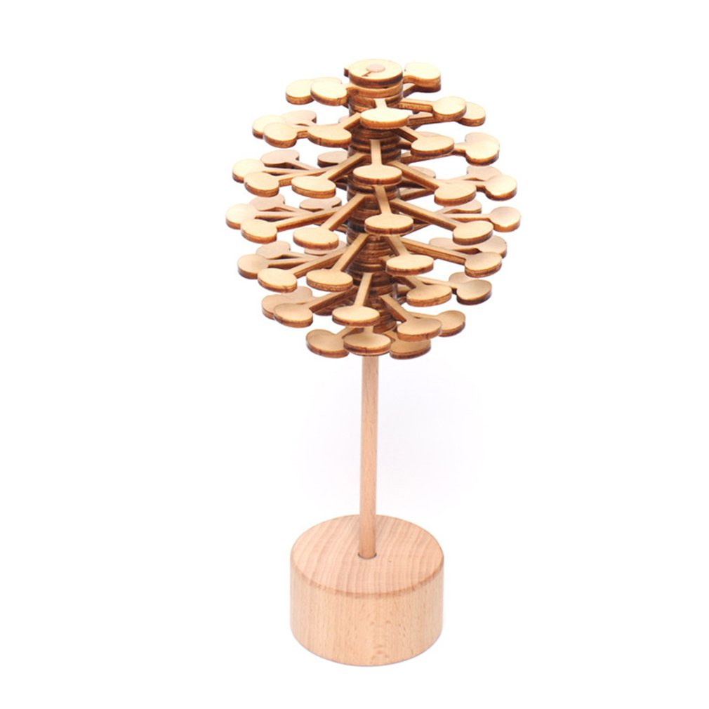 Children's Rotary Decompression Sticks Small Toys Gifts Creative Casual Wooden Novelty Toy Decompression Toys