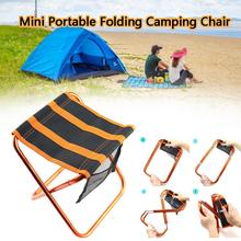 Outdoor Fishing Folding Chairs Mini Portable Camping Chair Stool Lightweight Hiking Gardening and Beach
