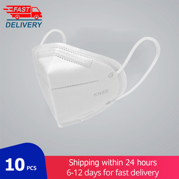 10 pcs KN95 Face Mask 5 layer Mouth KN95-Mask Anti dust masks Dustproof Anti-fog Protective filter mask Fast Shipping
