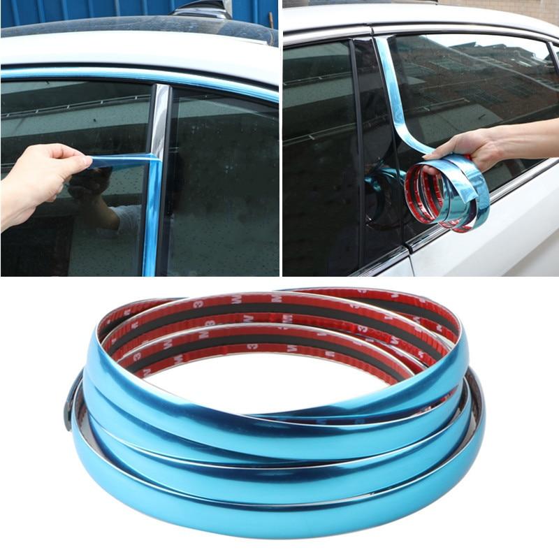 Серебристая хромированная Накладка для кузова автомобиля, защитная лента для автомобильной двери, Стайлинг отделки, наклейка для отделки, ...