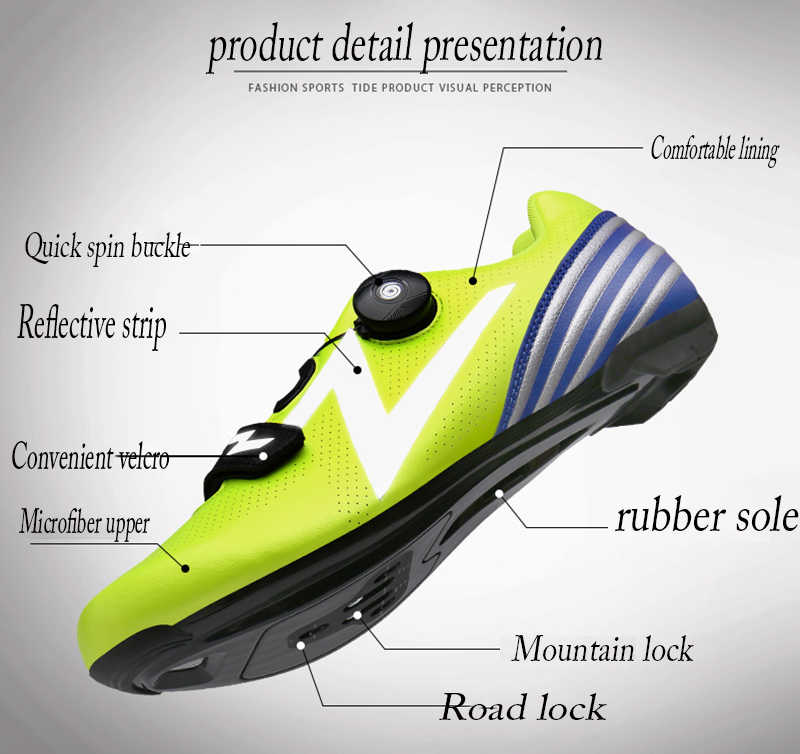 Cungel Cycling Shoes Adult child Outdoor Sports Breathable Non-Slip Shoes Professional Mountain Bike Bicycle Self-Locking Shoes