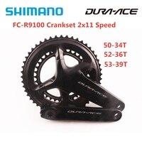 SHIMANO DURA-ACE FC R9100 Crank 2x11 Speed HOLLOWTECH II R9100 Crankset 50-34T 52-36T 53-39T 170MM 172.5MM 22s Road Bike Parts