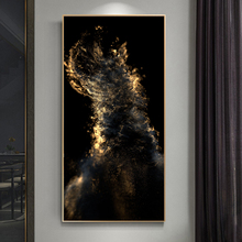 Abstract Gold Color Canvas Paintings On the Wall Art Posters And Prints Modern Home Decorative Pictures For Living Room