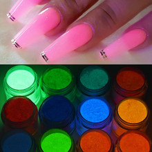 10ML Luminous acrylic dipping glow powder neon colors system glow in the dark acrylic nail dust For Carving Extension GQ-235378