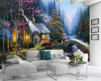 3d Room Wallpaper Custom Photo Nordic-style romantic forest cottage Home Decor Living Room Bedroom HD Wallpaper custom photo wallpaper 3d stereo dinosaur theme large murals primitive forest living room bedroom backdrop decor mural wallpaper