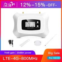 ¡Alta calidad! LTE 4G 800MHz amplificador de señal, 4G repetidor de señal de teléfono móvil amplificador de señal celular LTE 4g kit repetidor