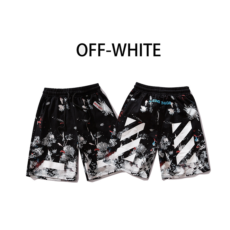 19ss Summer Camouflage Ink Fireworks Men And Women Couples Loose Casual Sports Shorts Shorts Fashion