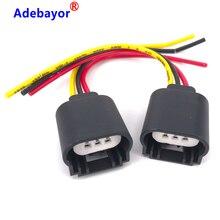 4 Pcs New 9008 H13 Headlight Extension Socket Connector Plug CERAMIC HITEMP car light