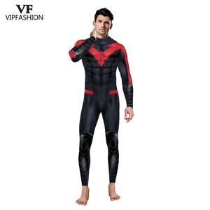 Image 3 - VIP FASHION New Cosplay Costume  Superhero Anime Zentai Suit Bodysuit Halloween Costume For Males