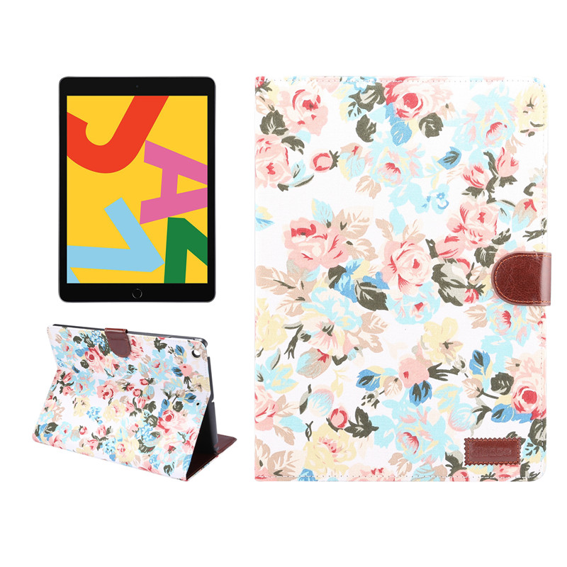 Generation A2200 Case Shell A2232 iPad 10.2 Skin Funda Flowers Apple 2019 iPad A2198 Stand Cover Painted 7th For For Smart