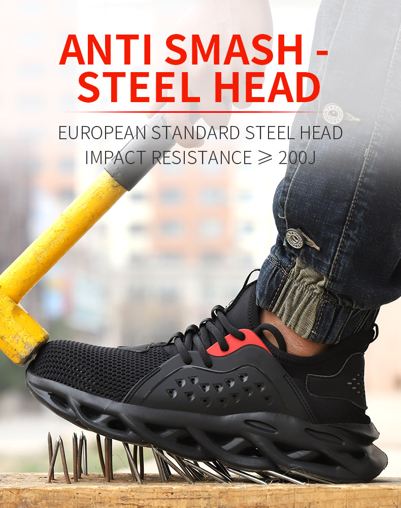 Work Safety Breathable Solid Shoes
