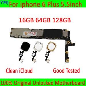 Image 1 - סמארטפון mainboard עבור iphone 6 בתוספת האם, 16GB/64GB /128GB היגיון לוח עבור iphone 6 P MB צלחת עם/ללא מגע מזהה