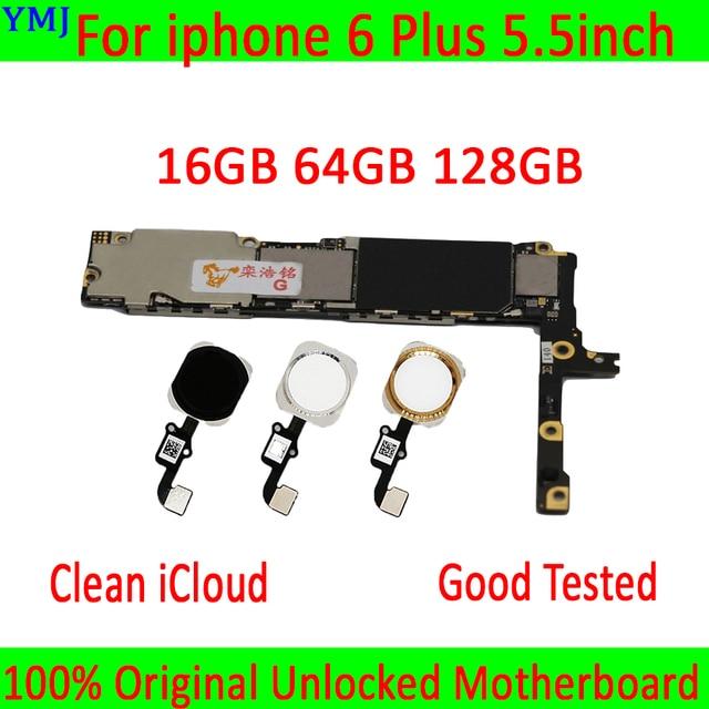 סמארטפון mainboard עבור iphone 6 בתוספת האם, 16GB/64GB /128GB היגיון לוח עבור iphone 6 P MB צלחת עם/ללא מגע מזהה