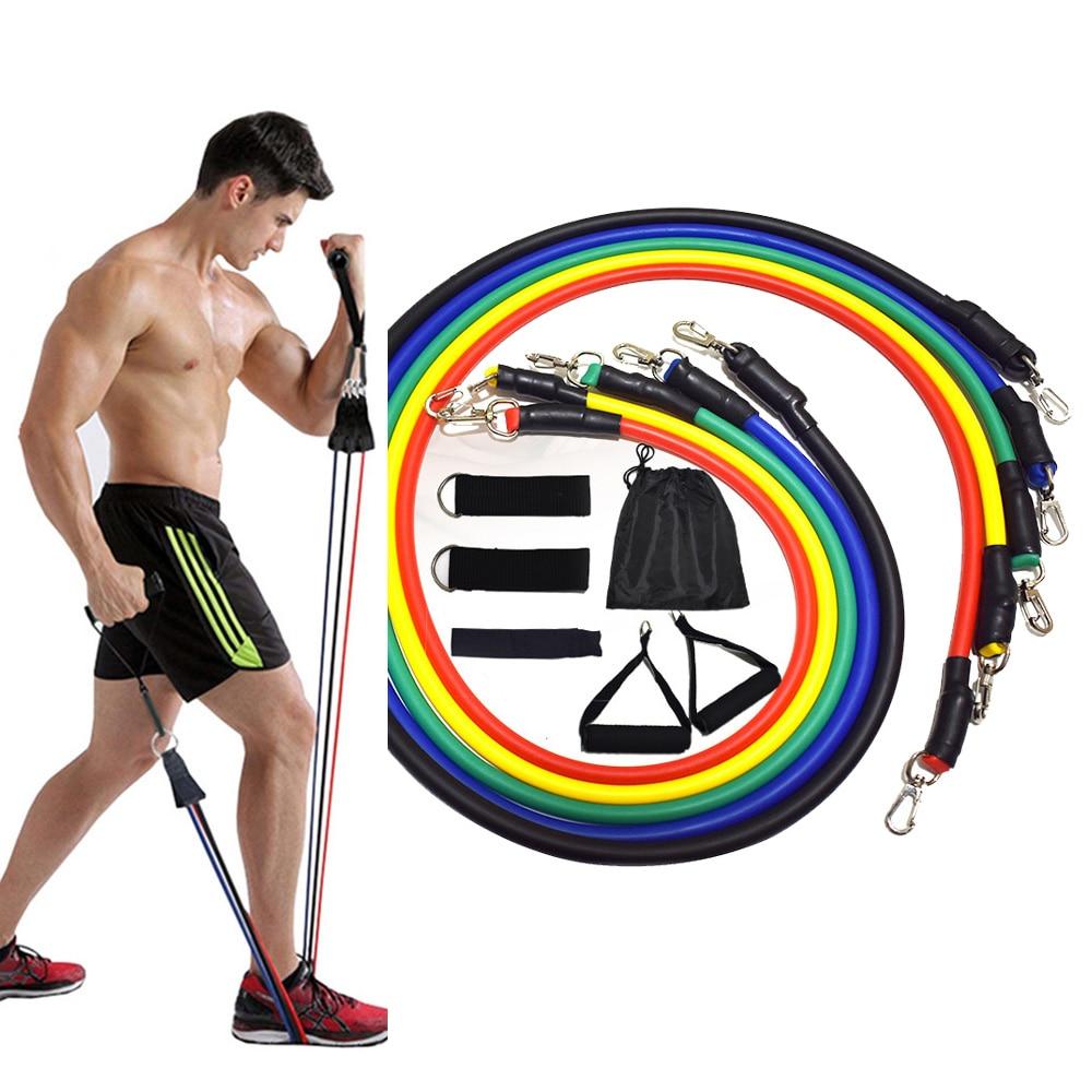 Набор эспандеров для фитнеса, эластичные ленты для тренировок, 11 шт.-0