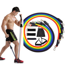 11 Pcs Resistance Bands Set Fitness Bands Resistance Gym Equipment Exercise Bands Pull Rope Fitness Elastic Training Expander cheap Unisex CN(Origin) Comprehensive Fitness Exercise Rubber String Chest Developer Resistance Band set Length 120 cm diameter 0 9cm
