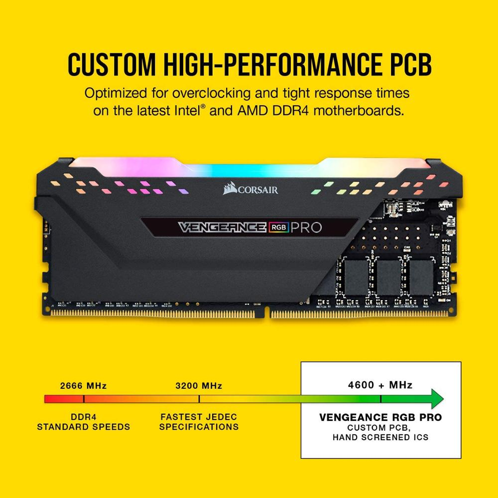 Corsair Vengeance RAM RGB Pro 8GB (1x8GB) DDR4 3000 (PC4-24000) C16 Desktop Memory-Black 5