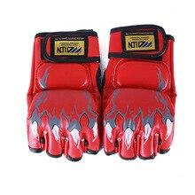 ММА для детей и взрослых, боксерские боевые боксерские перчатки для игры в мешки с песком, боксерские перчатки с полупальцами, Настраиваемые