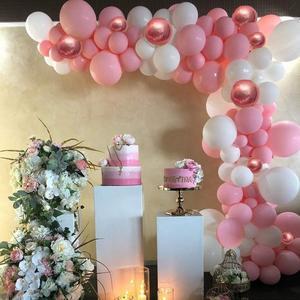 Image 5 - 101 DIY balonlar Garland kemer seti gül altın pembe için beyaz balon bebek duş gelin duş düğün doğum günü partisi süslemeleri