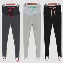 Специальное предложение; Леггинсы со складками; эластичная резинка на талии; брюки для беременных; Одежда для беременных женщин;