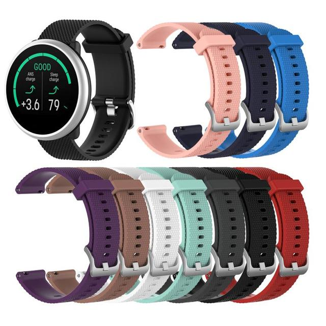 Wristband For Polar Ignite Belt Fashion Texture Silicone Strap Band Wristband Waterproof Sweat-Proof Smart Watch Replacement 1