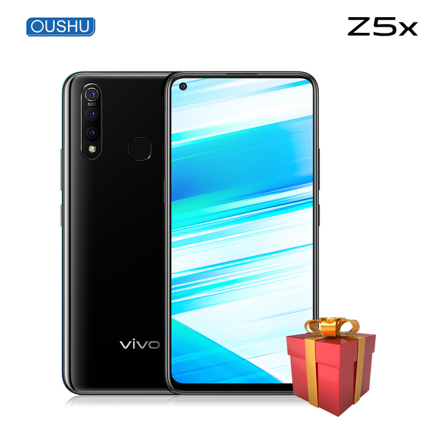"Original vivo Z5x Mobile Phone 6G 64G Snapdragon710 Octa Core Android 9.0 6.53""Screen 5000mAh Battery 18W SuperVOOC Smartphone"