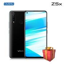 "Originele Vivo Z5x Mobiele Telefoon 6G 64G Snapdragon710 Octa Core Android 9.0 6.53 ""Scherm 5000 Mah Batterij 18W Supervooc Smartphone"