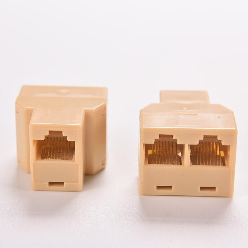 Socket Network Plug LAN Port 1 To 2 Socket Splitter Connector Adapter DZ517 RJ45 Coupler 8P8C Ethernet Cable Extender
