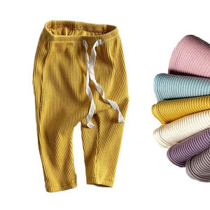Pp Pants Leggings Trousers Bottoming-Pant Ribbed Harems Toddler Baby-Boys-Girls Kids