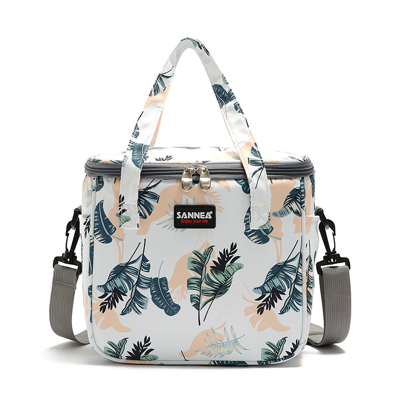 7L Floral Picnic Bag Fashion Thermal Food Picnic Lunch Bag For Women Milk Beer Cooler Lunch Box Portable Multifunction Lunch Bag
