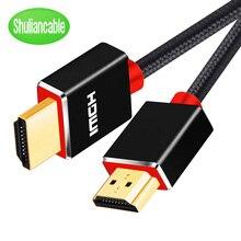 Błyszczący kabel HDMI szybki 1080P 3D złoty kabel warstwowy hdmi do HDTV XBOX PS3 projektor komputer 1m 2m 3m 5m 10m 15m 20m
