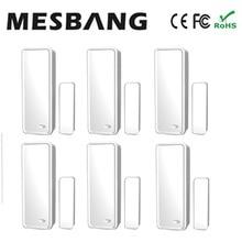 Mesbang 무선 도어 센서 창 도어 감지기 센서 433 mhz gb09 와이파이 gsm 경보 시스템 무료 배송