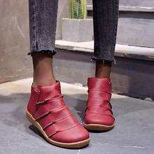 Модные женские ботинки зимняя обувь из искусственной кожи с