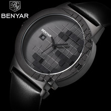 BENYAR Luxury Brand Watches Men Quartz Analog Leather Clock Mens Fashion Sports Watches Military Army Watch Relogio Masculino naviforce watches men luxury brand quartz analog digital leather clock man sports watches army military watch relogio masculino